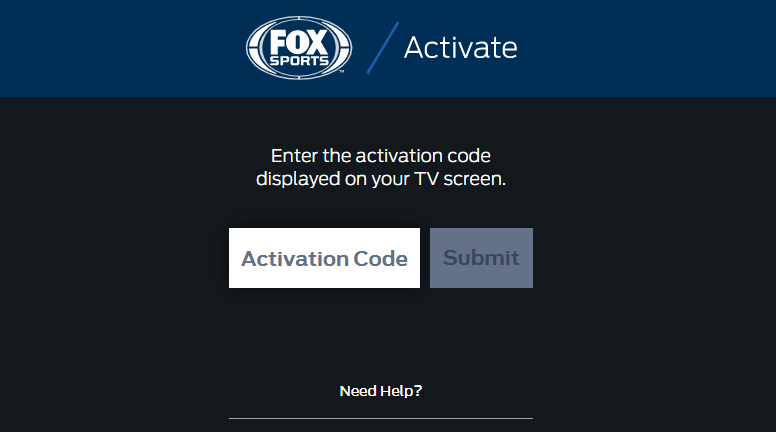 enter code to activate FOX Sports on Roku
