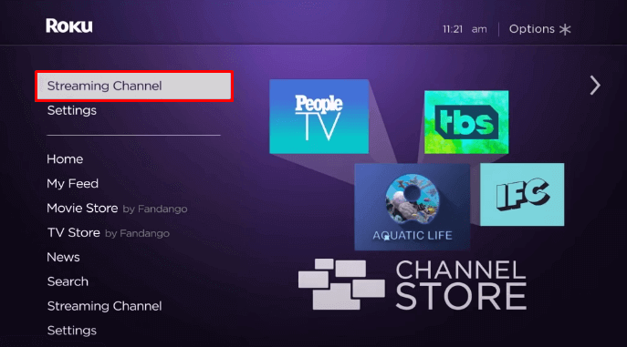 Select Streaming Channel on Roku