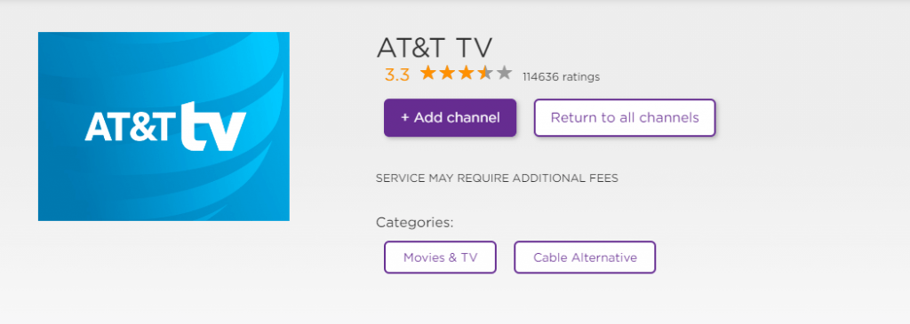 AT&T TV on Roku