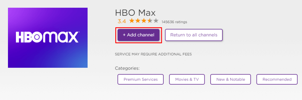 Add HBO Max on Roku