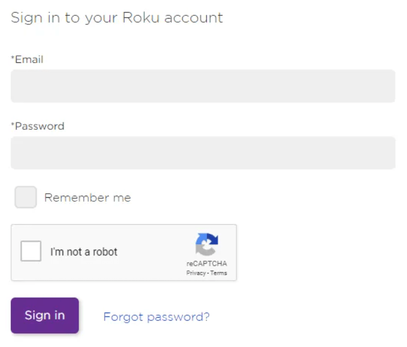 Sign in Roku account to install FilmOn