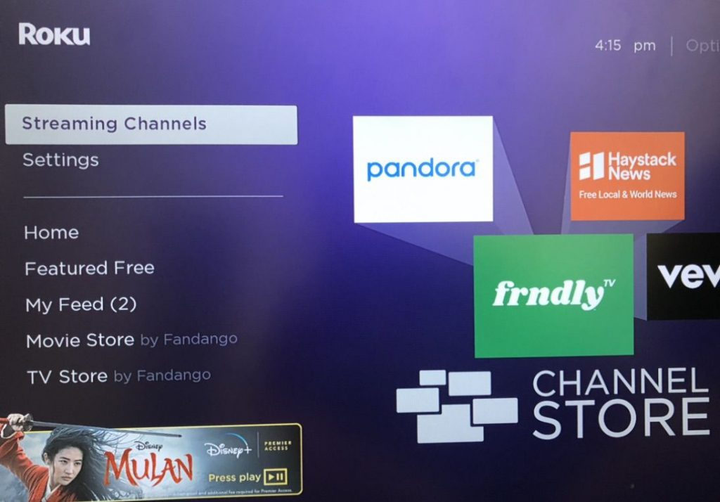 Streaming channels Marquee Sports Network on Roku