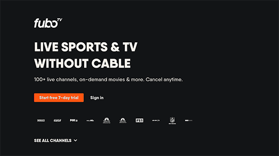 Fubo Tv Marquee Sports Network on Roku