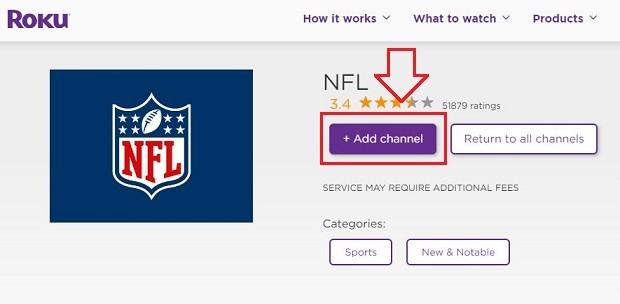 add channel NFL Draft on Roku