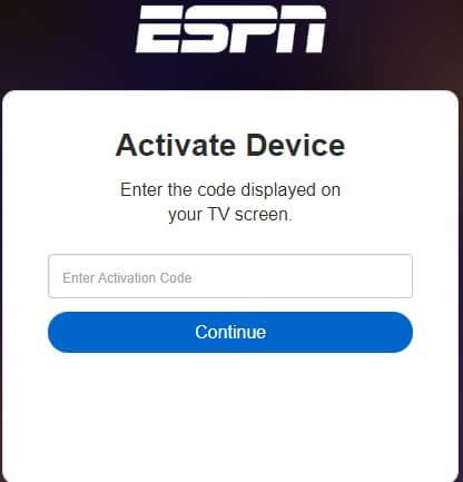 Activate ESPN MLS Live on Roku