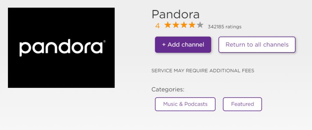 Pandora to Stream Podcasts on Roku