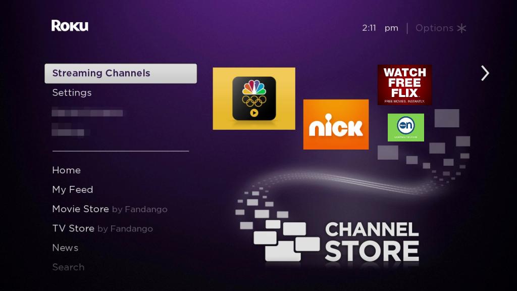 streaming channels Taken on Roku