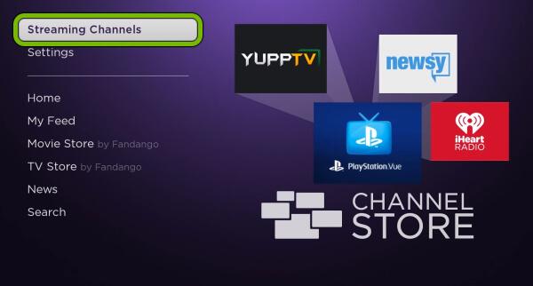 Streaming channels Vevo on Roku